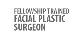 Fellowship trained facial plastic surgeon logo.
